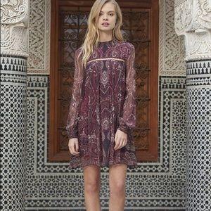 Jetset Diaries Labyrinth Paisley Mini Dress